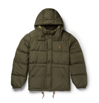 Polo Ralph Lauren Hooded Down Quilted Shell Coat Green