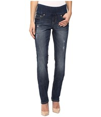 Jag Jeans Malia Pull On Slim Comfort Denim In Flatiron Flatiron Women's Blue