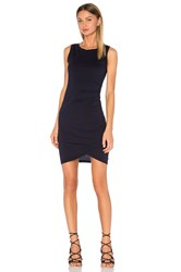 Bobi Supreme Jersey Ruched Bodycon Dress Navy