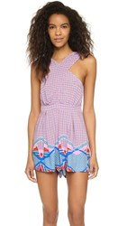 Minkpink Block Party Cross Front Romper Multi