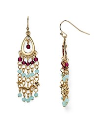 Aqua Charon Beaded Chandelier Drop Earrings Multi
