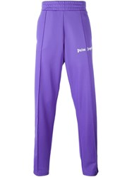 Palm Angels Striped Track Pants Pink And Purple