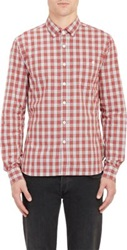 Todd Snyder Plaid Button Down Collar Shirt Red