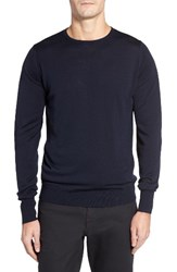 John Smedley Men's 'Marcus' Easy Fit Crewneck Wool Sweater Midnight