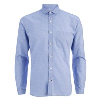 Oliver Spencer Men's Eton Collar Long Sleeve Shirt Lancaster Blue
