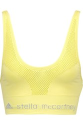 Adidas By Stella Mccartney The Sl Mesh And Stretch Jersey Sports Bra Yellow