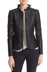 Rebecca Taylor Women's Ruffled Leather Jacket