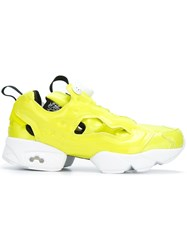Reebok Cut Off Detailing Sneakers Yellow And Orange
