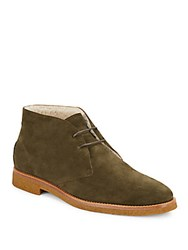 Tod's Fur Lined Ankle Boots Green