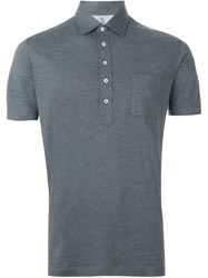 Brunello Cucinelli Chest Pocket Polo Shirt Grey