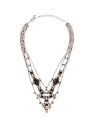 Dannijo 'Basel' Swarovski Crystal Bead Chain Necklace Multi Colour