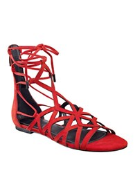 Kendall Kylie Cody Suede Gladiator Sandals Red