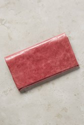 Anthropologie Leather Foldover Wallet Pink