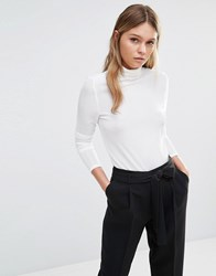 Fashion Union High Neck Top With Pleated Detailing Cream
