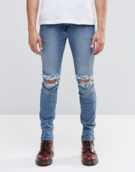Dr. Denim Dr Denim Jeans Snap Skinny Fit Light Stone Destroyed Wash Snap G45 Blue