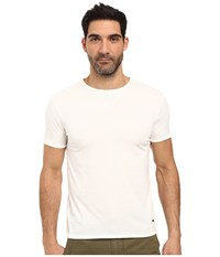 Boss Orange Toern Short Sleeved Crew With Structure Detail White Men's Clothing