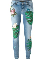 Dolce And Gabbana Patch Jeans Blue