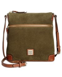 Dooney And Bourke Suede Crossbody Olive