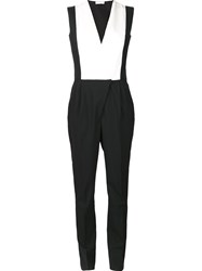 Vionnet Overall Style Jumpsuit Black