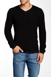 Autumn Cashmere Reverse Seam V Neck Cashmere Sweater Black