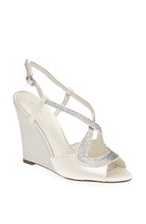 Women's Menbur 'Tunder' Satin Wedge Sandal Ivory