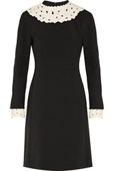 Mikael Aghal Embellished Crepe Dress Black