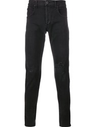 Rag And Bone Distressed Skinny Jeans Grey