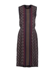 Sophie Hulme Knee Length Dresses Garnet
