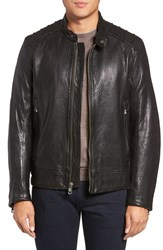 Andrew Marc New York Men's Boarder Lambskin Leather Moto Jacket