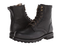 Frye Warren Combat Black Tumbled Leather Shearling Men's Work Lace Up Boots