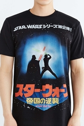 Urban Outfitters Star Wars Jedi Fight Tee Black