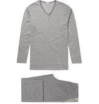 Zimmerli Cotton Jersey Pyjamas Gray