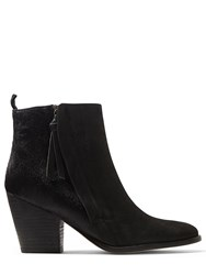 Jigsaw Adyson Side Zip Calf Hair Boot Black
