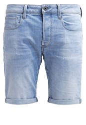 G Star Gstar 3301 Deconstructed 1 Denim Shorts Light Aged Light Blue Denim