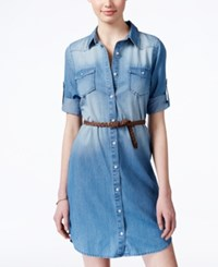 American Rag Denim Belted Shirtdress Only At Macy's