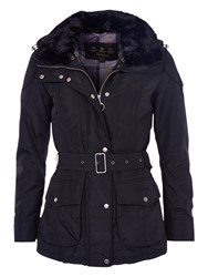 Barbour International Outlaw Faux Fur Collar Jacket Black