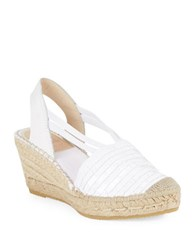 Vidorreta Mojo Sequined Fringe Platform Wedges White