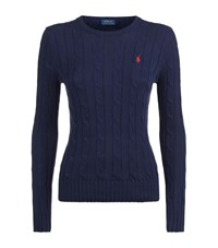 Polo Ralph Lauren Julianna Cable Knit Sweater Female Navy