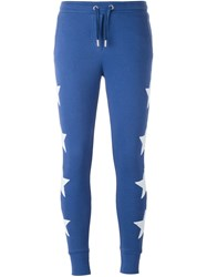 Zoe Karssen Embroidered Star Track Pants Blue