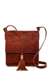 Cynthia Vincent Ema Leather Crossbody Brown