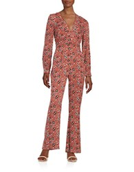 Free People Patterned Hot Jumpsuit Rust Combo