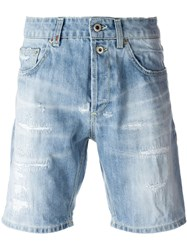 Dondup Distressed Shorts Blue
