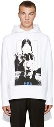 Hood By Air White Montgomery Double Hoodie