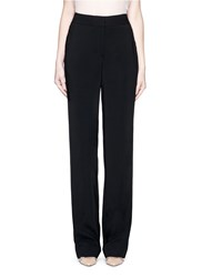 Jason Wu Crepe Wide Leg Pants Black