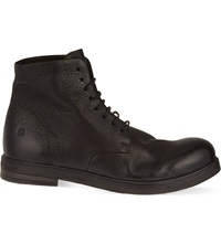 Marsell Leather Military Boots Black