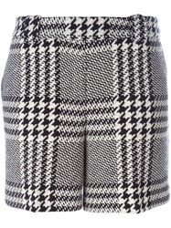 Twin Set Houndstooth Check Shorts Grey