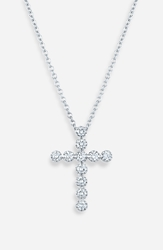 Kwiat Diamond Cross Pendant Necklace White Gold