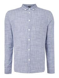 Criminal Heath Mini Gingham Shirt Navy
