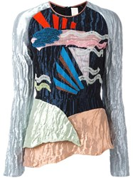 Peter Pilotto Textured Geometric Top Metallic