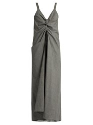 Ellery Burlesque Prince Of Wales Check Sleeveless Dress Grey